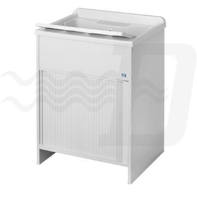 Lavatoio Per Esterni Con Mobile In Plastica E Apertura A Serrandina